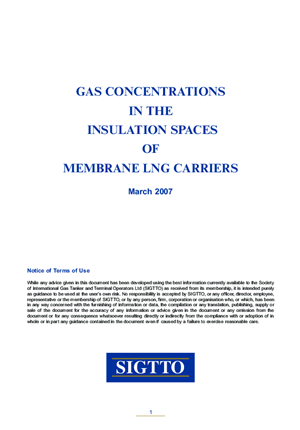 Gas Concentrations in the Insulation Spaces of Membrane LNG Carriers