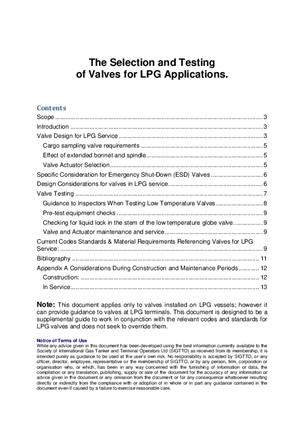 The Selection and Testing of Valves for LPG Applications