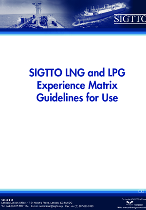 LNG and LPG Experience Matrix Guidelines for Use