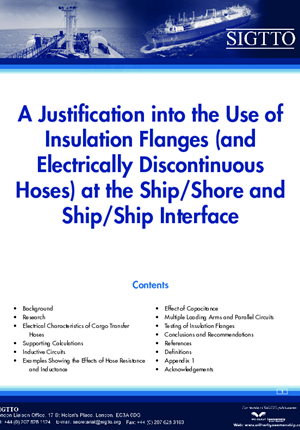 A Justification into the Use of Insulation Flanges (and Electricity Discontinuous Hoses) at the Ship/Shore and Ship/Ship Interface