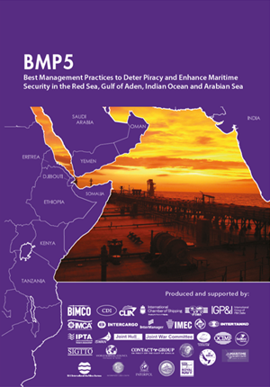Publication cover for Best Management Practices to Deter Piracy – BMP5